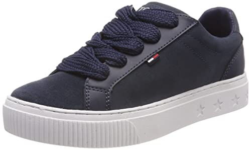ab189c9570caf5 Tommy Jeans Women s Ankle Lace Sneaker Low-Top  Amazon.co.uk  Shoes ...