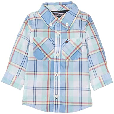 0021be5f Tommy Hilfiger Baby Boys Long Sleeve Checkered Romper, Blue (Provence), 3-6  Months (Manufacturer Size:68 cm): Amazon.co.uk: Clothing
