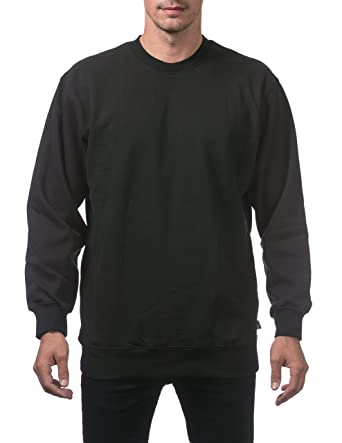Pro Club Men's Heavyweight Plain Blank Crew Neck Fleece Pullover ...