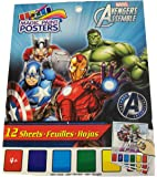 """Marvel Avengers Assemble Savvi Magic Paint Posters ~ Heroes in Action! (12 Posters, 6"""" x 8"""")"""