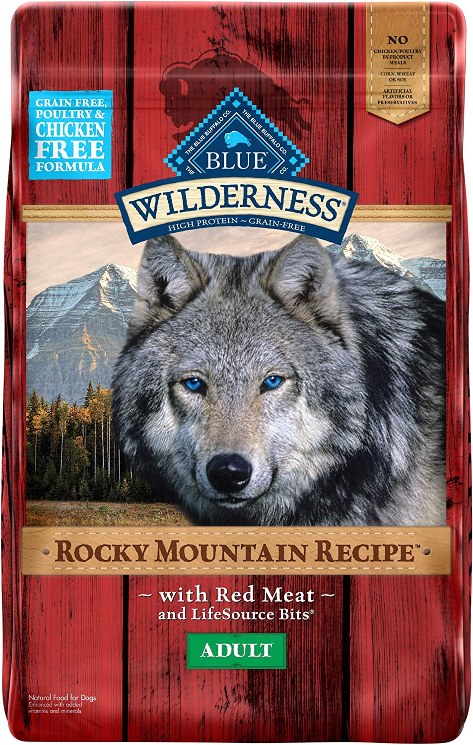 6. Blue Buffalo Wilderness Rocky Mountain Recipe Grain-Free Dry Dog Food