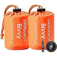 Esky Emergency Sleeping Bag, Waterproof Lightweight Thermal Bivy Sack, Survival Blanket Bags Portable Sack for Camping…