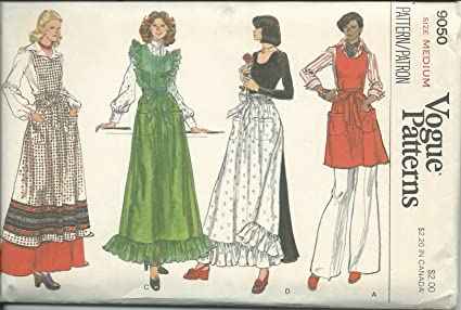 Amazon.com  Vogue 9050 Sewing Pattern Misses Apron Size Medium  Arts ... 993b71992f0f