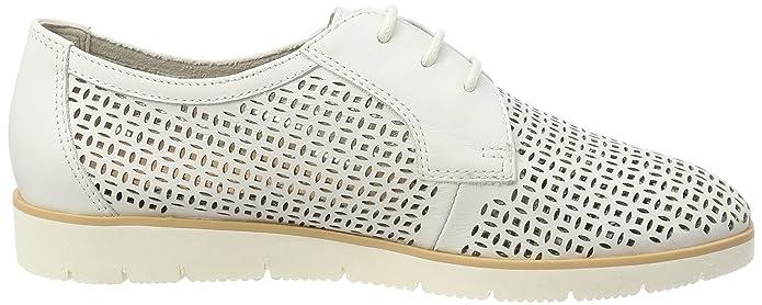 Caprice 23505, Zapatos de Cordones Oxford para Mujer, Blanco (White Nappa 102), 38 EU