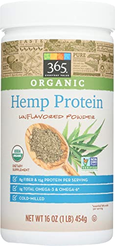 365 Everyday Value, Organic Hemp Protein Powder, Unflavored, 16 oz