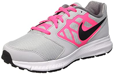 New Nike Girl's Downshifter 6 Athletic Shoe Grey/Pink 10.5