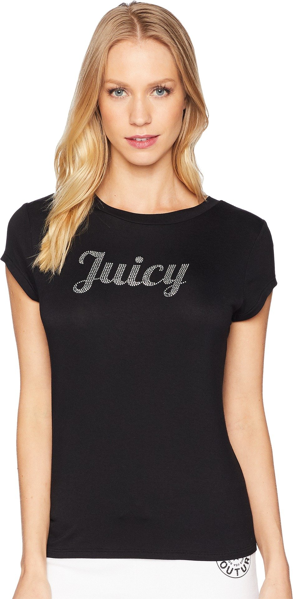 Juicy Couture Women's Juicy Short Sleeve Tee Pitch Black Medium