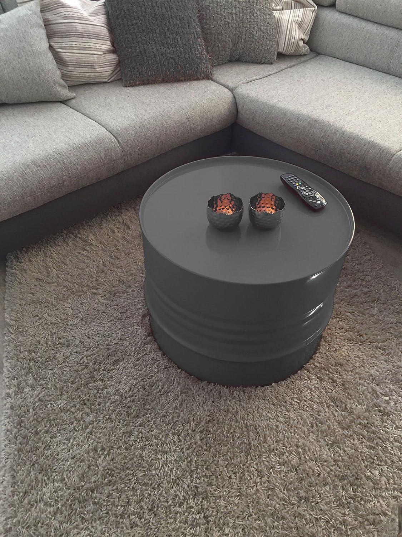 Fassmöbel Beistelltisch Beistelltisch Beistelltisch Ölfass Tisch Fass Design Möbel Couchtisch Anthrazit Ø 57cm 752b60