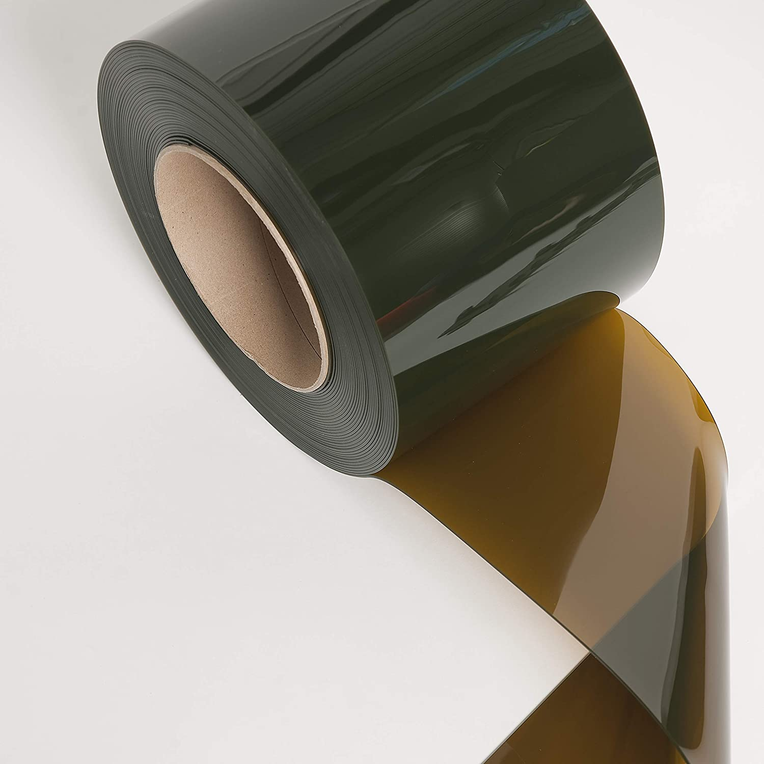 75 Roll PVC Vinyl Strip Curtain Door Bulk Roll 8 x .08 Welding Amber PVC Material