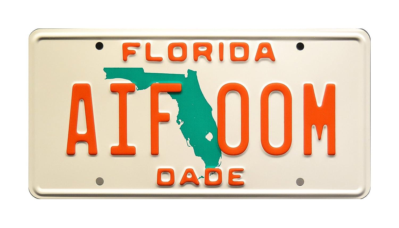 Miami Vice | Sonny Crockett' s Ferrari Testarossa | Florida AIF 00M | Metal Stamped Vanity Prop License Plate Celebrity Machines FLAIF00M