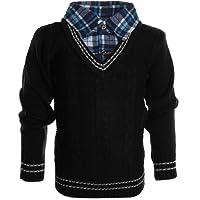 BEZLIT Boys' Blouse Plain Button Down Long Sleeve Pullover