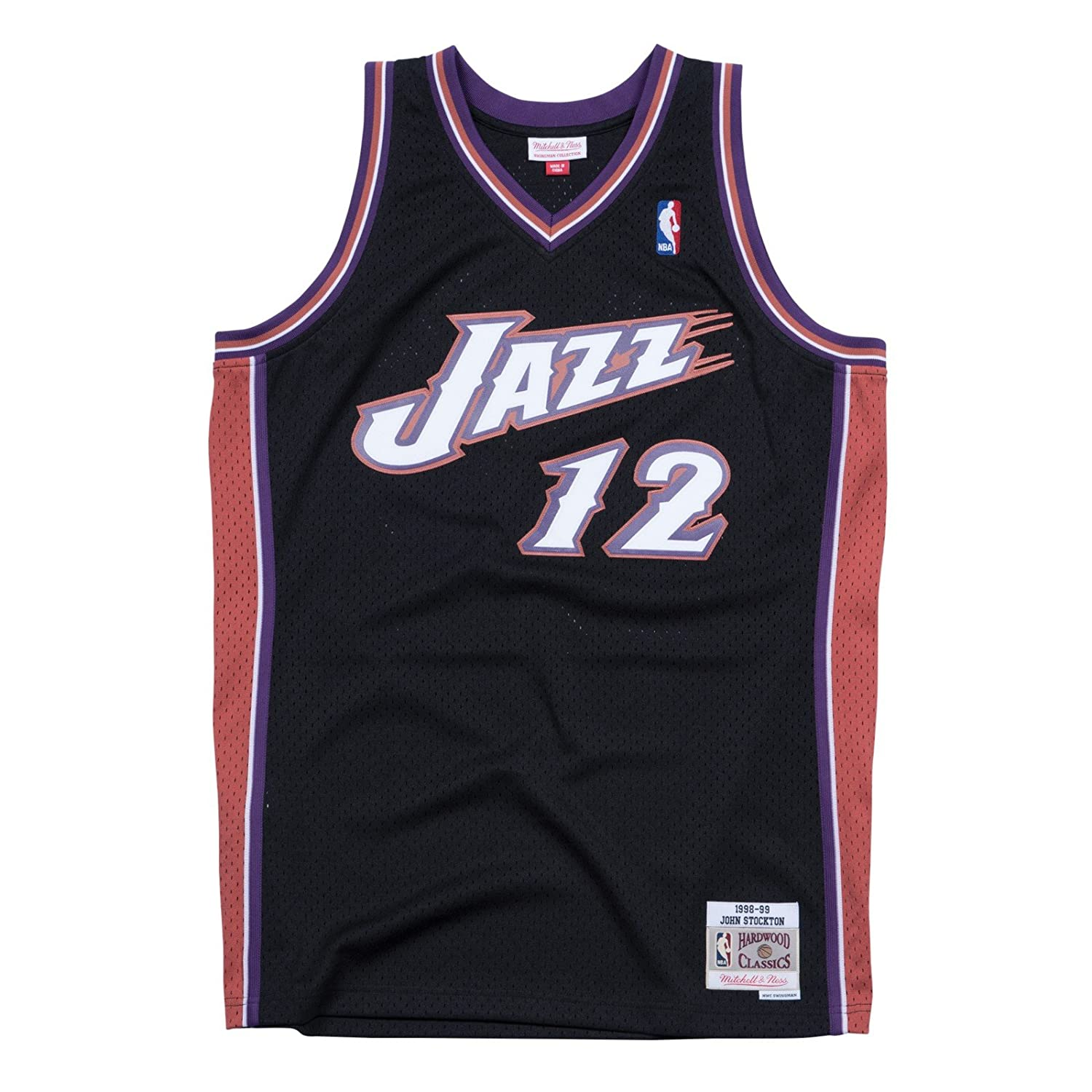 8509b84c Amazon.com : Mitchell & Ness Utah Jazz John Stockton Swingman Jersey NBA  Throwback Black : Sports & Outdoors