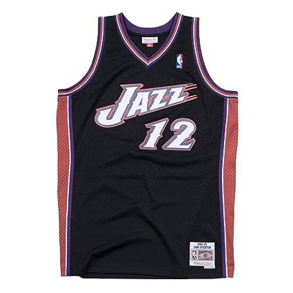 wholesale dealer e06b2 b1b5c Mitchell & Ness Utah Jazz John Stockton Swingman Jersey NBA Throwback Black