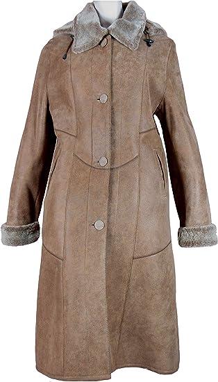 PELLI GOLD Manteau Cuir Peau lainée 100% Mouton retourné