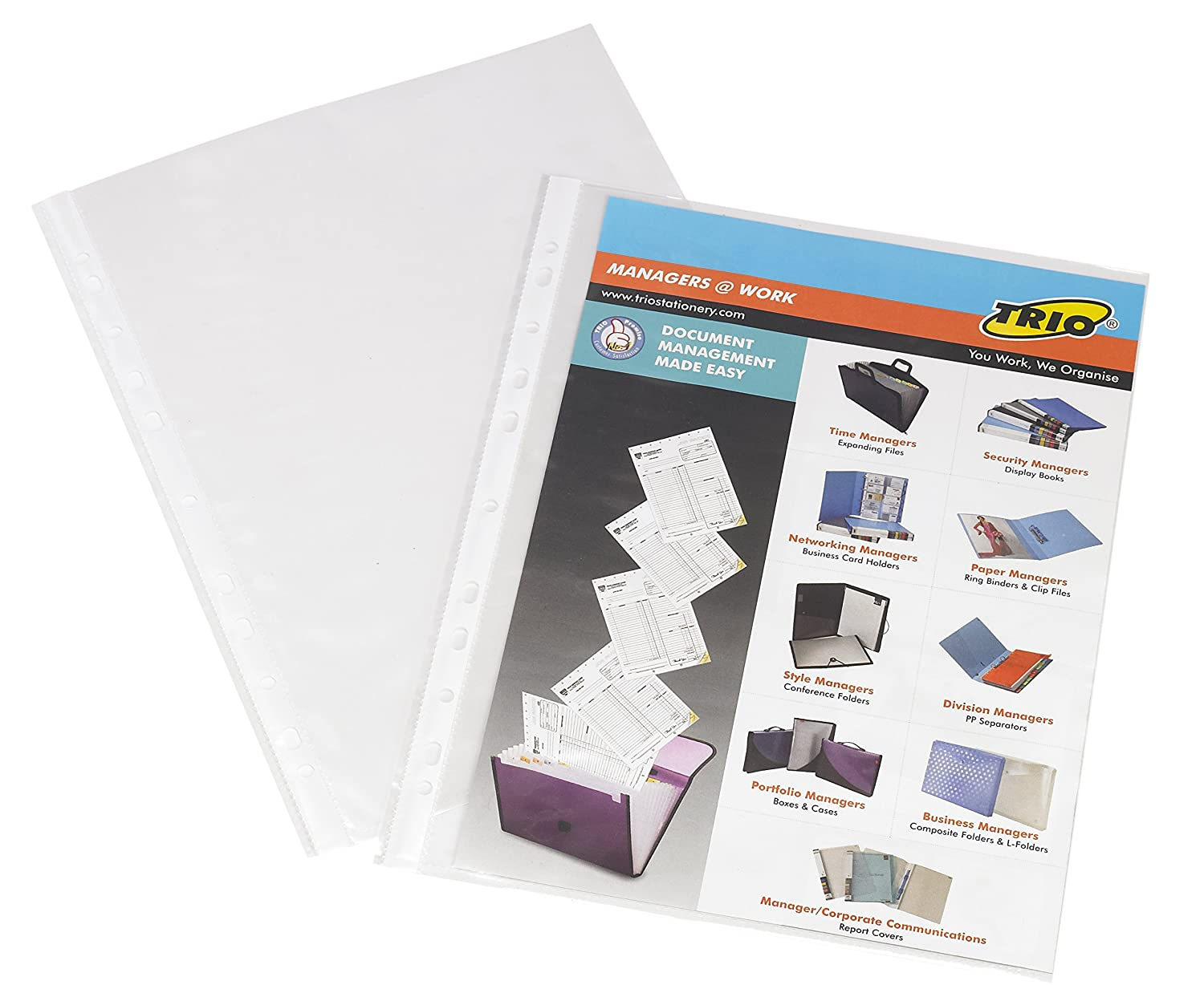 TRIO SP75A4 Thick Sheet Protector A/4 (Set Of 100): Amazon.in ...