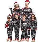 Abollria Pijamas de Navidad Familia Conjunto Pantalon y Top Pijamas Mujer Hombre Invierno Manga Larga Pijama 2 Piezas…