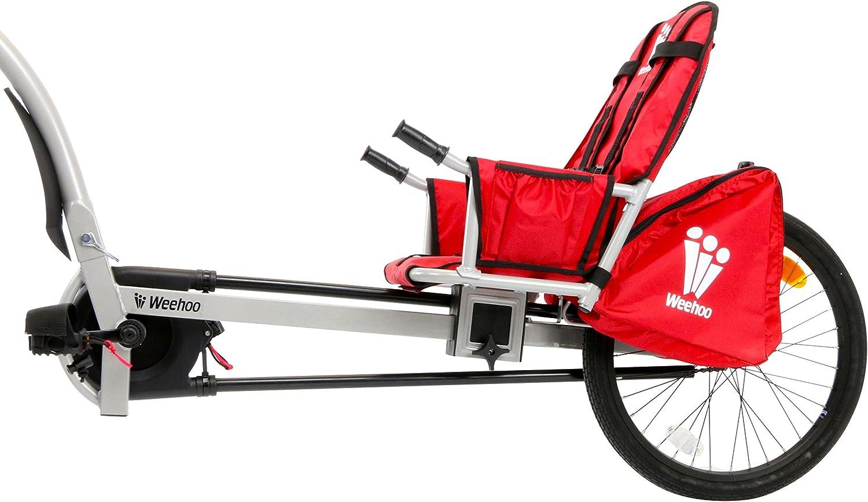 Weehoo IGO Turbo - Bicicleta de Remolque para niños, Color Rojo, 4 – 9 años: Amazon.es: Deportes y aire libre