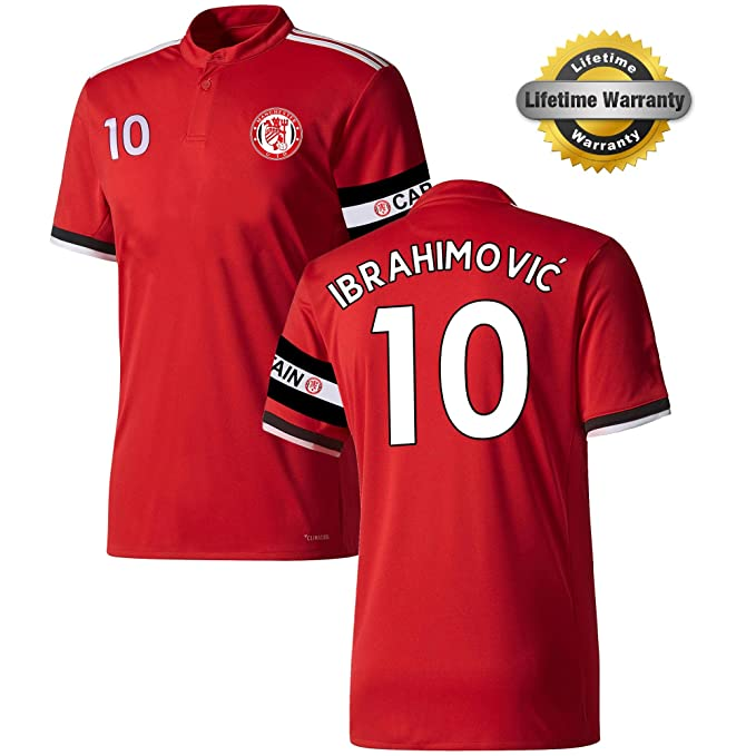 92861df5b77 Amazon.com   MFC Zlatan Ibrahimovic Jersey  10 Youth Soccer Jersey + Shorts  + Ball   Premium Gift Kids Boys Girls Size 5 Football Ibrahimovich  10    Sports ...