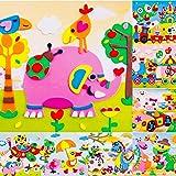 due Gattini(ドゥエガッティーニ) 知育シール 3Dシール 立体 子供 幼児教育 工作 アート 幼児 知育 知育教材 知育玩具 集中する アルファベット 英語 機内おもちゃ (X1-20 【20枚セット】)