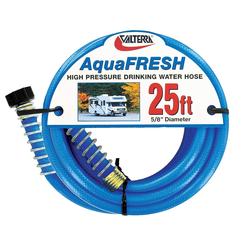 Valterra 5//8 Inch x 50 Foot W01-9600 AquaFresh High Pressure Drinking Water Hose Savers-5//8 x 50 Blue
