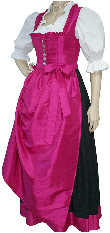 34-42 Dirndl Festtracht Trachten-Kleid Trachtenkleid Dirndlkleid Ballkleid pink