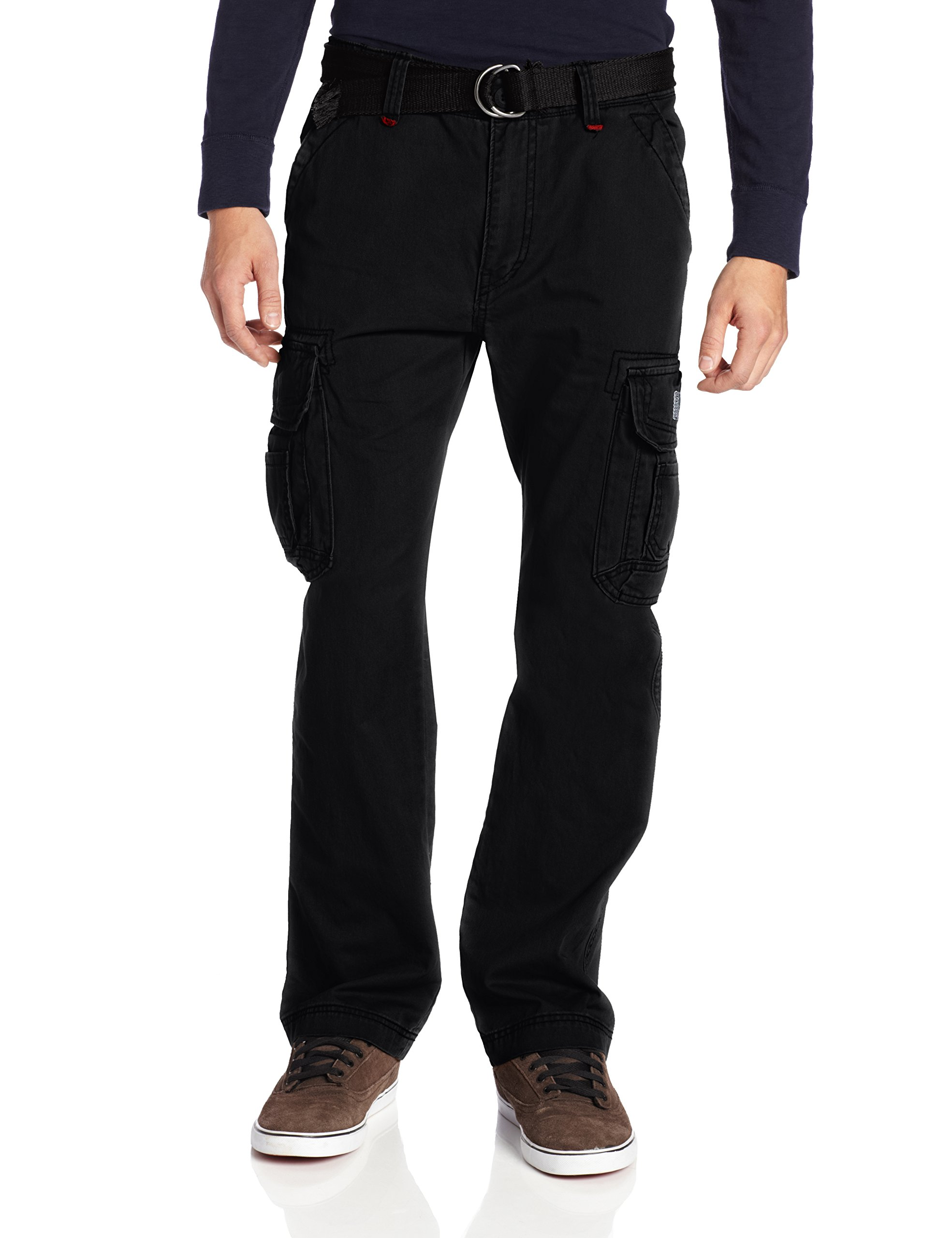 Unionbay Men's Survivor Iv Relaxed Fit Cargo Pant - Reg and Big and Tall Sizes, Black, 38x32