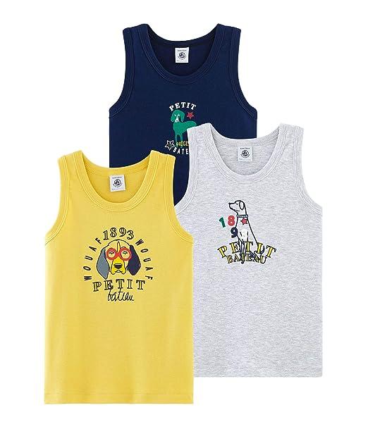 Petit Bateau Camiseta sin Mangas para Ni/ños