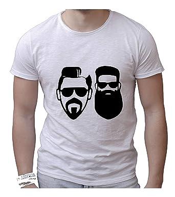 Camiseta de Hombre de algodón Llamado Cuello Ancho de Corte Vivo ...