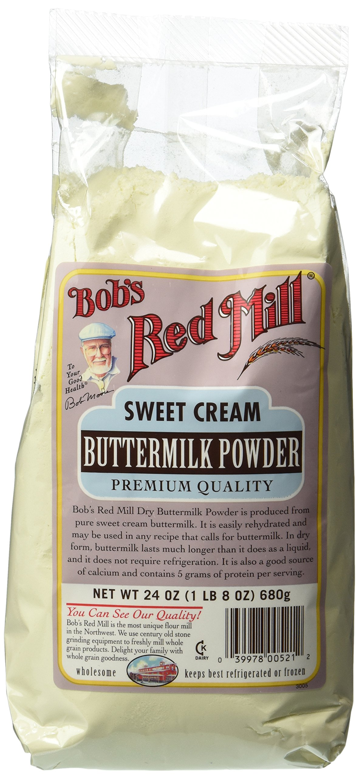 One 24 oz (1 lb 8 oz) 680 g Sweet Cream Buttermilk Powder
