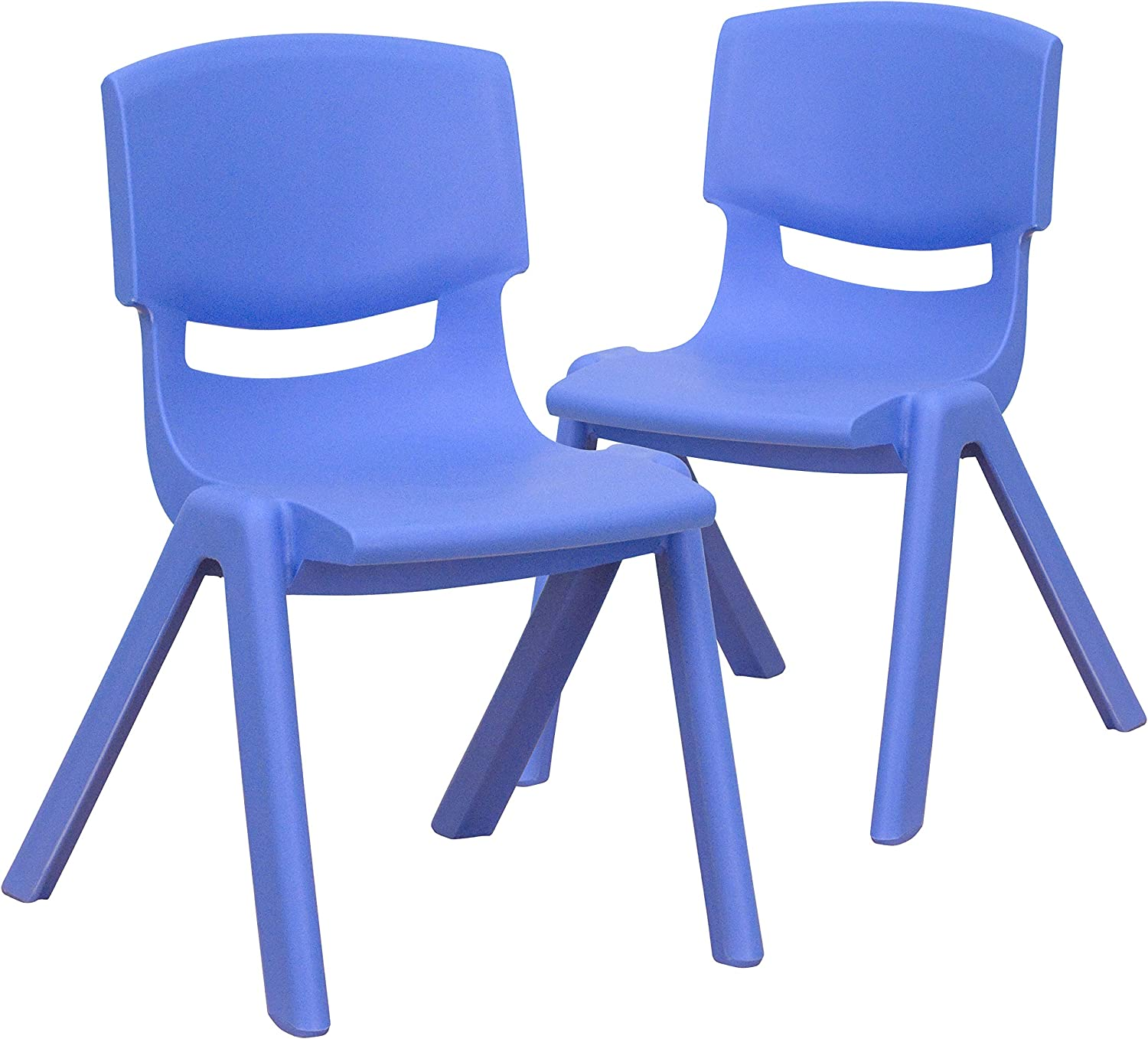 Flash Furniture 2 Pack Blue Plastic Stackable School Chair with 12