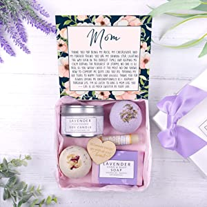 Mom Gift Box Set - Heartfelt Card & Spa Gift Box for her Birthday, Holidays & More