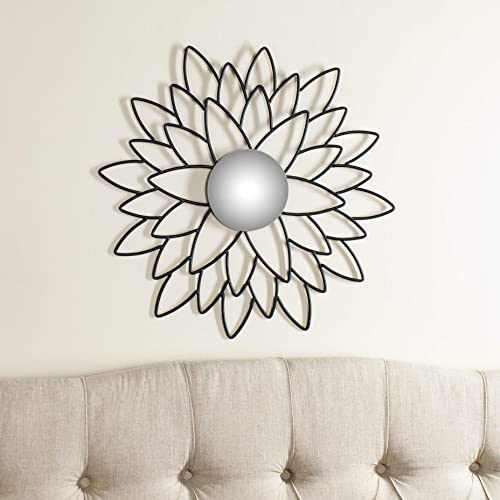 Safavieh Home Collection Chrysanthemum Mirror, Black