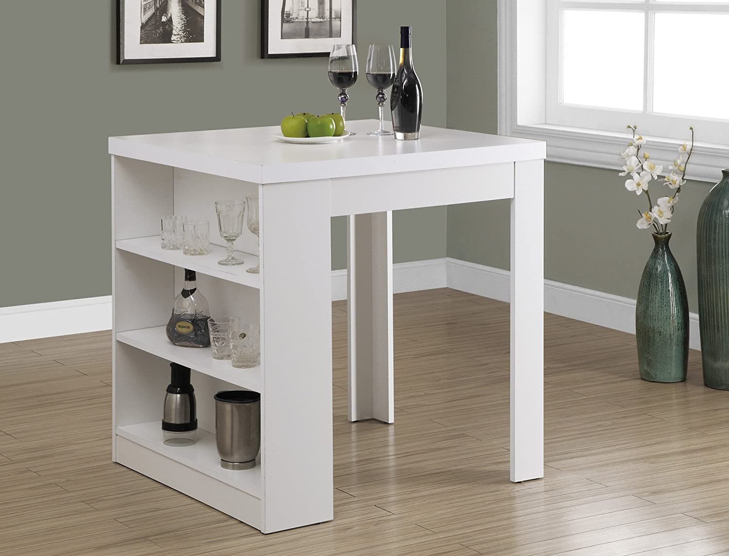 Amazon Com 32 X 36 White Counter Height Dining Table Tables