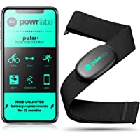 Powr Labs Heart Rate Monitor Chest Strap - ANT + Bluetooth Chest Heart Rate Monitor with Chest Strap - HRM Run Bike Tri…