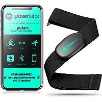 Powr Labs - Correa de pecho para monitor de ritmo cardíaco - ANT + monitor de frecuencia cardíaca Bluetooth con correa…