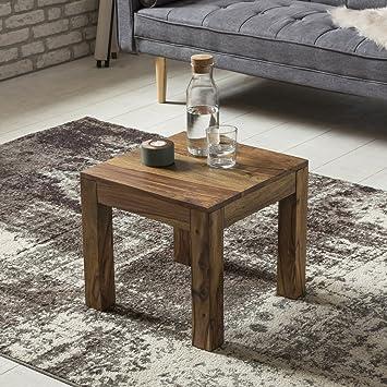 FineBuy Couchtisch Massiv-Holz Sheesham 45 cm breit Wohnzimmer-Tisch ...