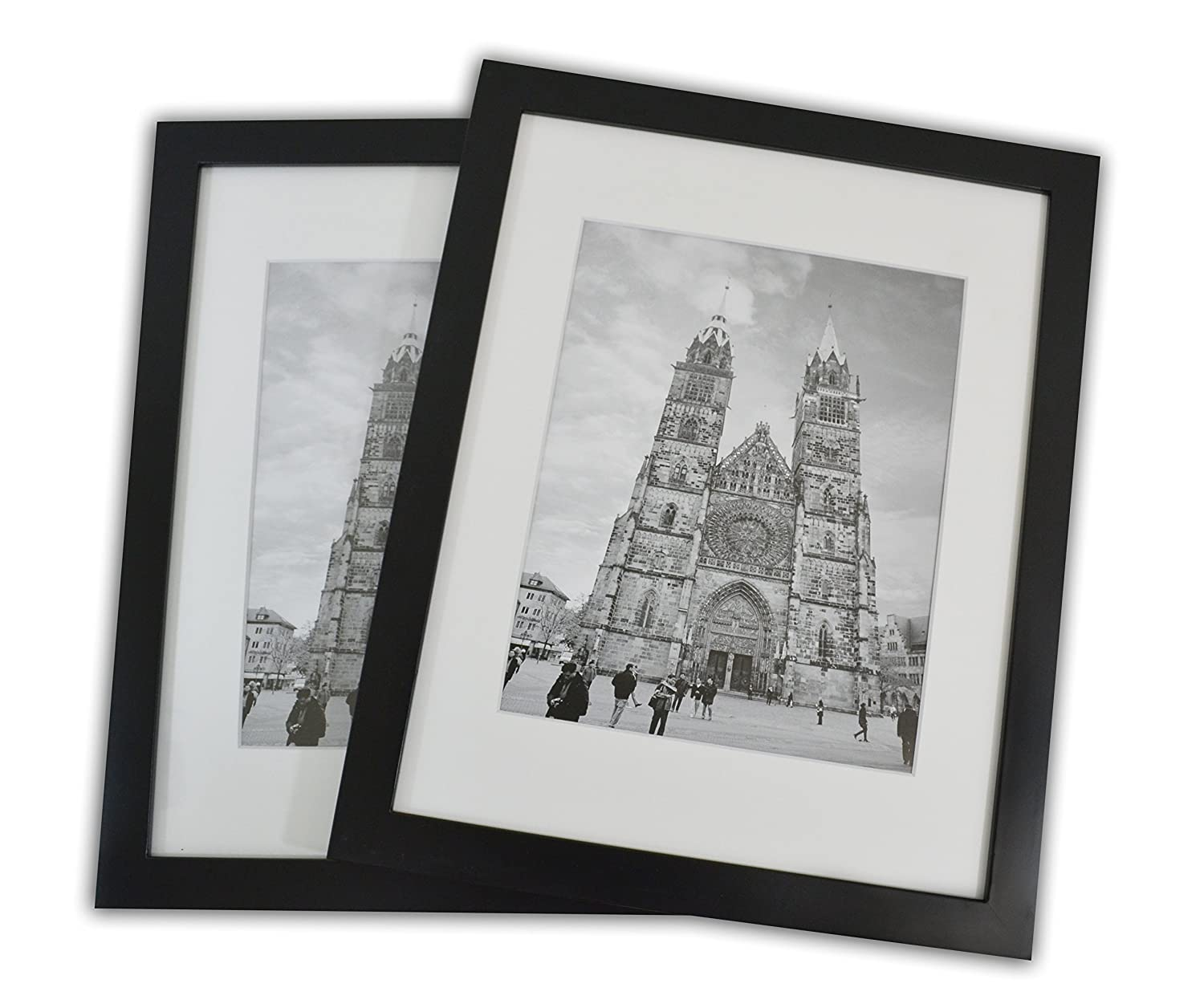 Amazon.com: 11x14 Photo Wood Frame with Mat (2 frames per box) BLACK ...