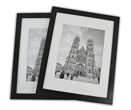Amazon.com - 11x14 Photo Wood Frame with Mat (2 frames per box ...