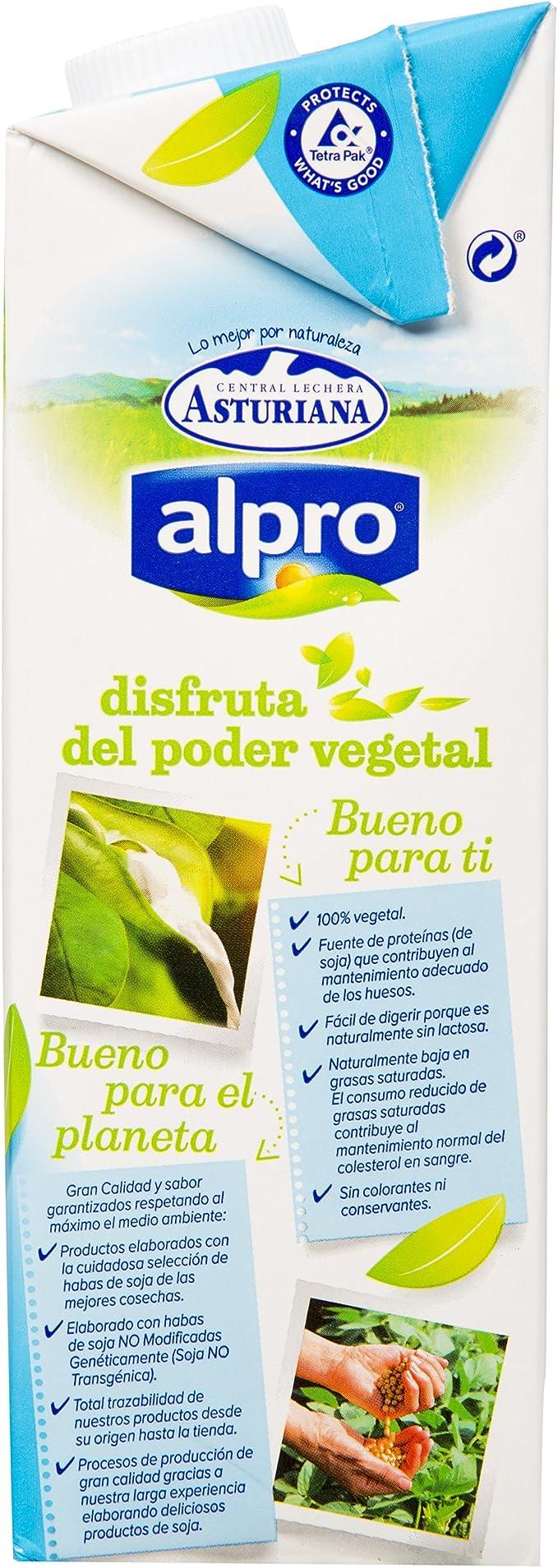 Alpro Central Lechera Asturiana Bebida de Soja, 6 x 1000ml ...