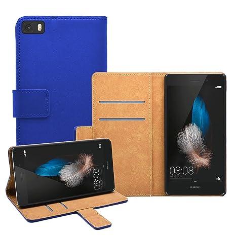 Membrane Funda Huawei P8 Lite Carcasa Azul Cartera Wallet ...