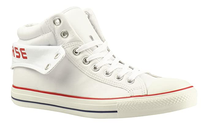 d24c9e5a6017 Converse CT Padded Collar 2 PC2 Mid - 115661 - White Red (UK 8.5)   Amazon.co.uk  Shoes   Bags