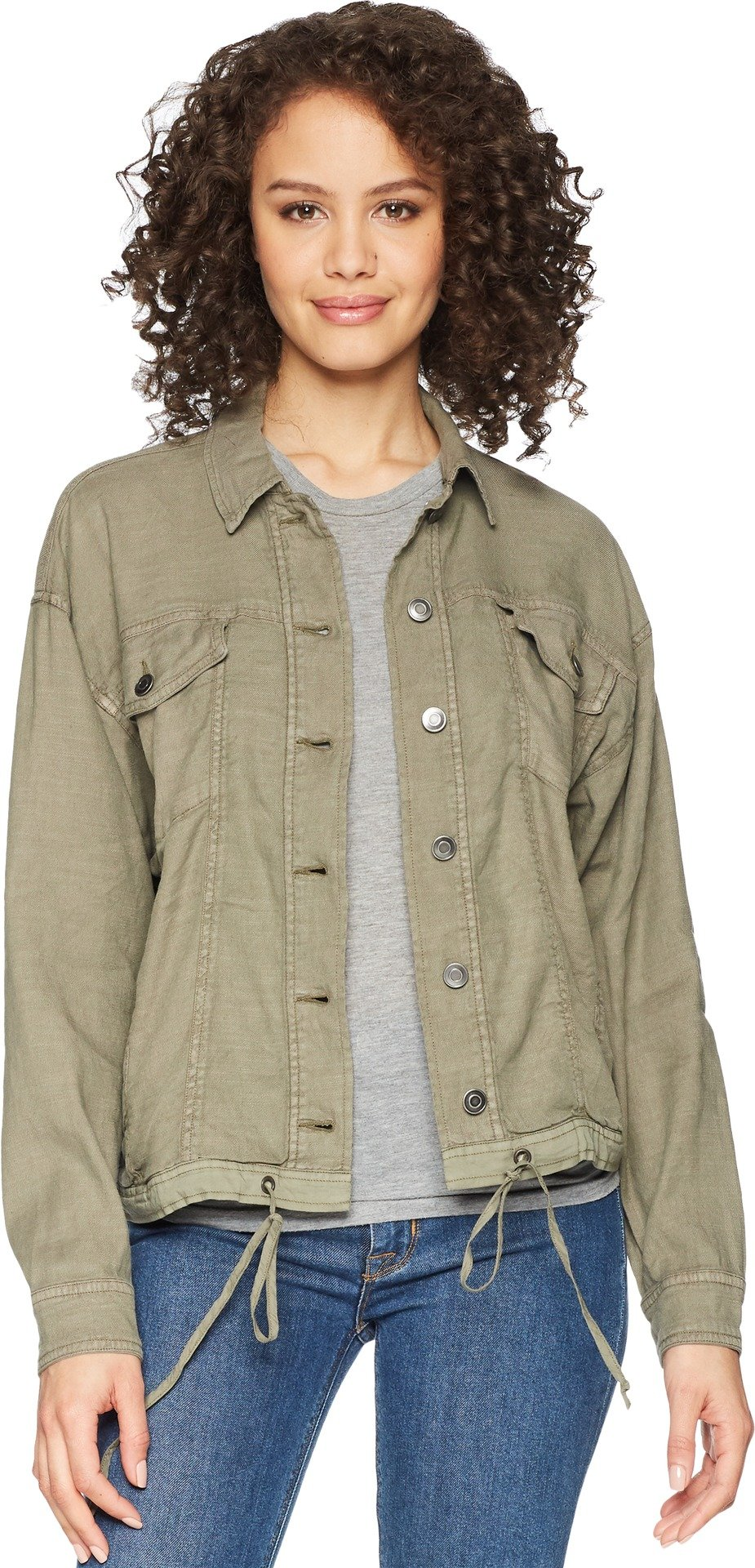 Splendid Women's Dolman Style DNM JKT, Antique Military Olive, S