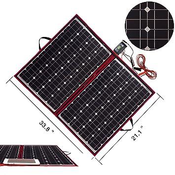 DOKIO 140W Solar Panel 12V Monocrystalline foldable Solar Panel kit