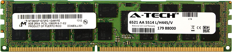 A-Tech Micron 8GB Module PC3-10600 1.35V for Dell Precision Workstation T5600 20D6F T7500 SNPJDF1MC/16G T7600 A6996807 T5500 A2626071 A2626092 A3721494 A3721500 A3721505 Memory RAM