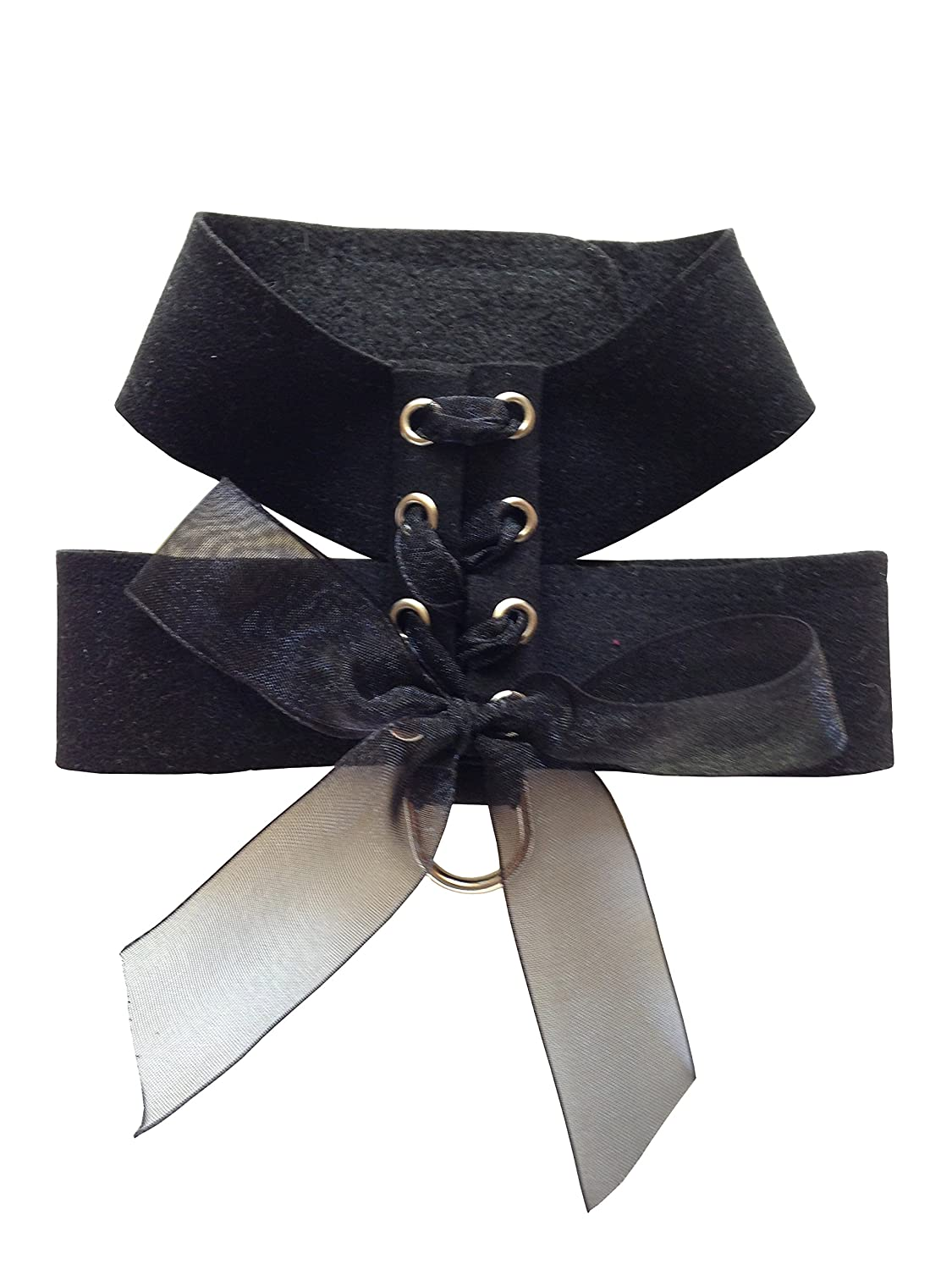 Parisian Corset Harness by The Dog Squad, Black, S 12-14in