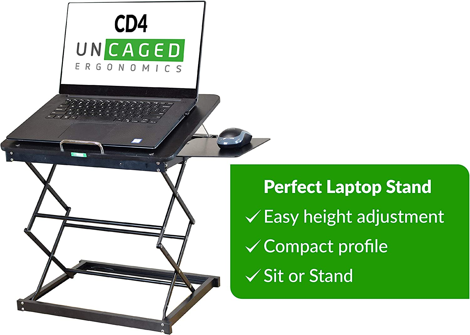 14x2inch Foldable Laptop Standing Desk,Adjust The Spine Computer Stand with Ventilated Adjustable Hight Function for MacBook Other laptops-Black 35x4cm