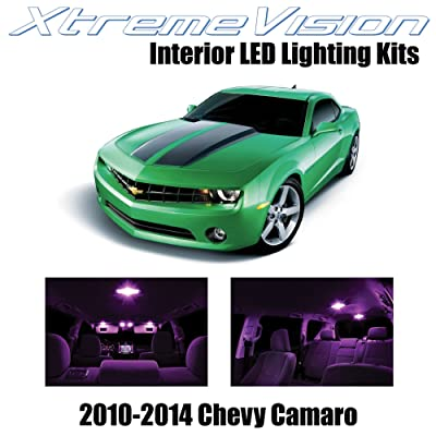 XtremeVision Interior LED for Chevy Camaro 2010-2014 (6 Pieces) Pink Interior LED Kit + Installation Tool: Automotive