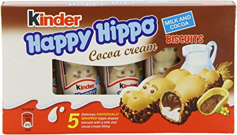 Kinder Happy Hippo Cocoa Cr?me T5 (Pack of 10): Amazon.es: Electrónica