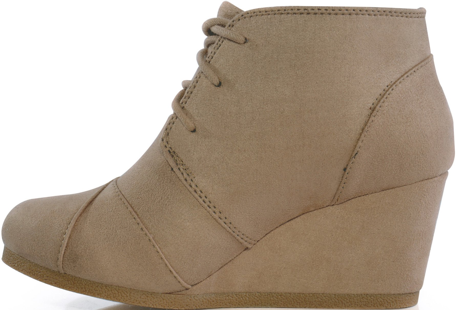 MARCOREPUBLIC Galaxy Womens Wedge Boots - (Taupe) - 10 by MARCOREPUBLIC (Image #4)