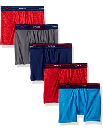 332cf87e8 Hanes Boys' X-Temp Performance Cool Boxer Brief 5-Pack